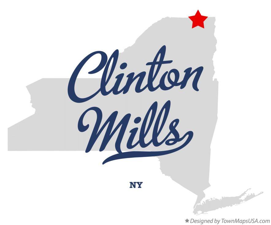 Map of Clinton Mills New York NY
