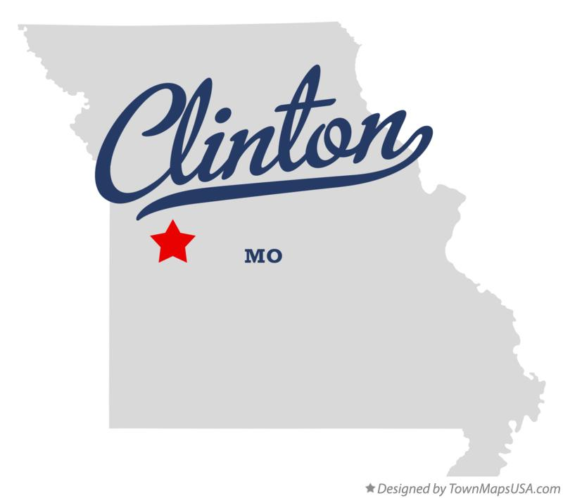 Map of Clinton Missouri MO