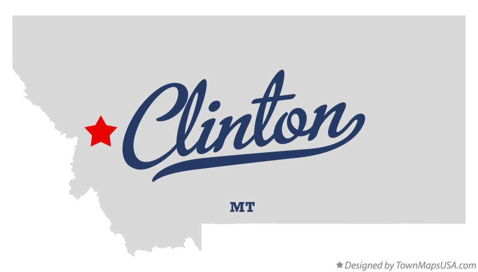 Map of Clinton Montana MT