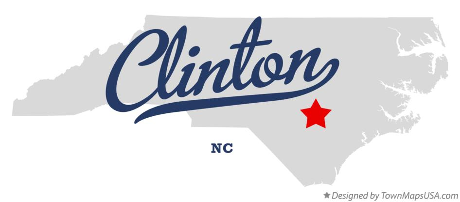Map of Clinton North Carolina NC