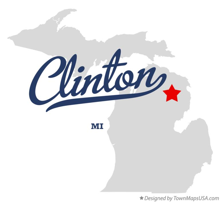 Map of Clinton Michigan MI