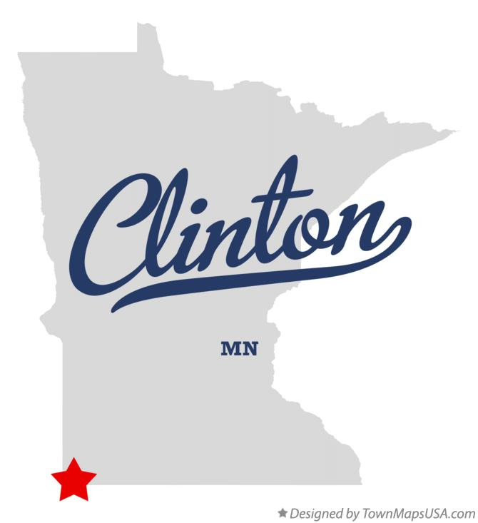 Map of Clinton Minnesota MN