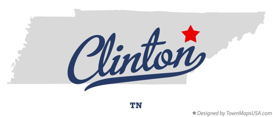 Map of Clinton, TN, Tennessee