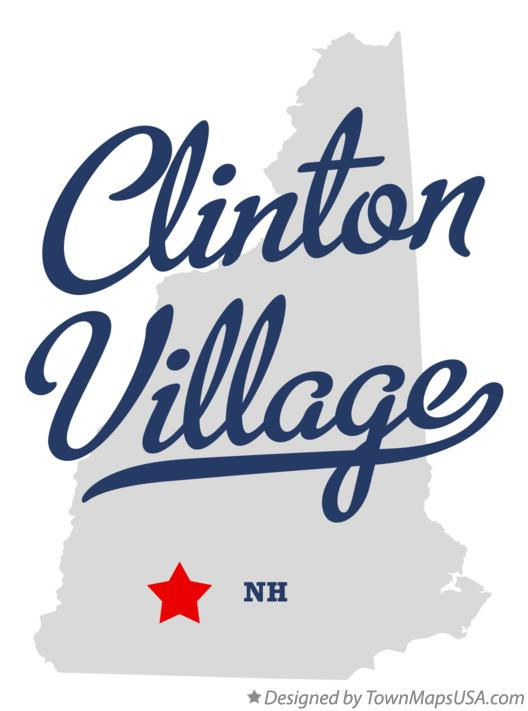 Map of Clinton Village New Hampshire NH