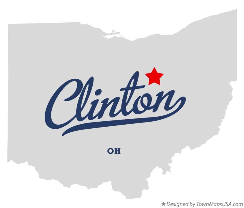 Map of Clinton Ohio OH