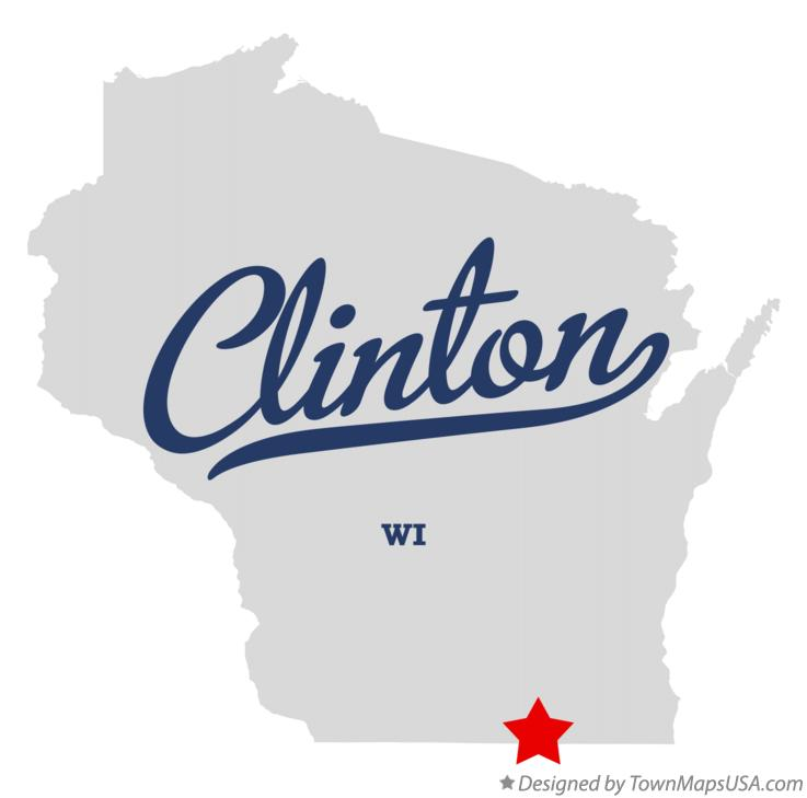 Map Of Clinton Rock County Wi Wisconsin