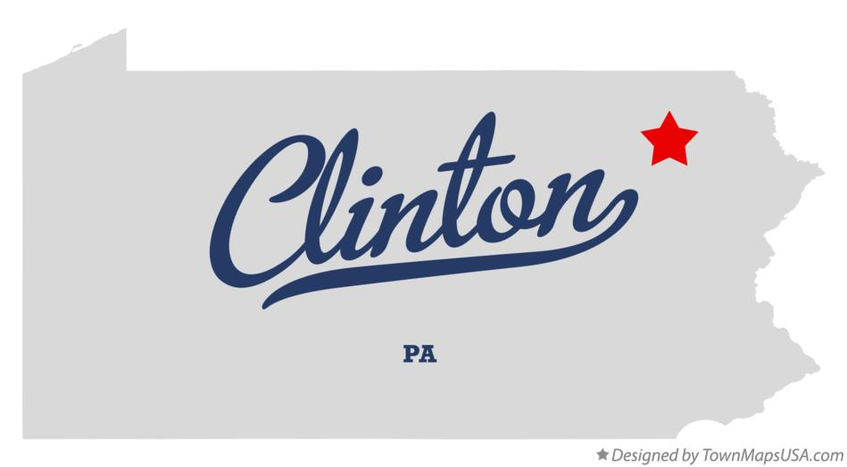 Map of Clinton Pennsylvania PA
