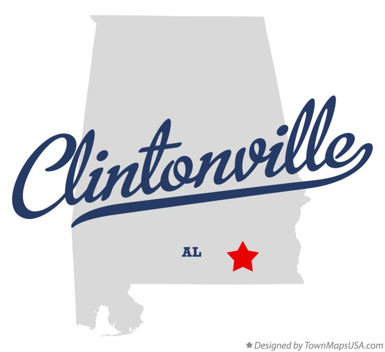 Map of Clintonville Alabama AL