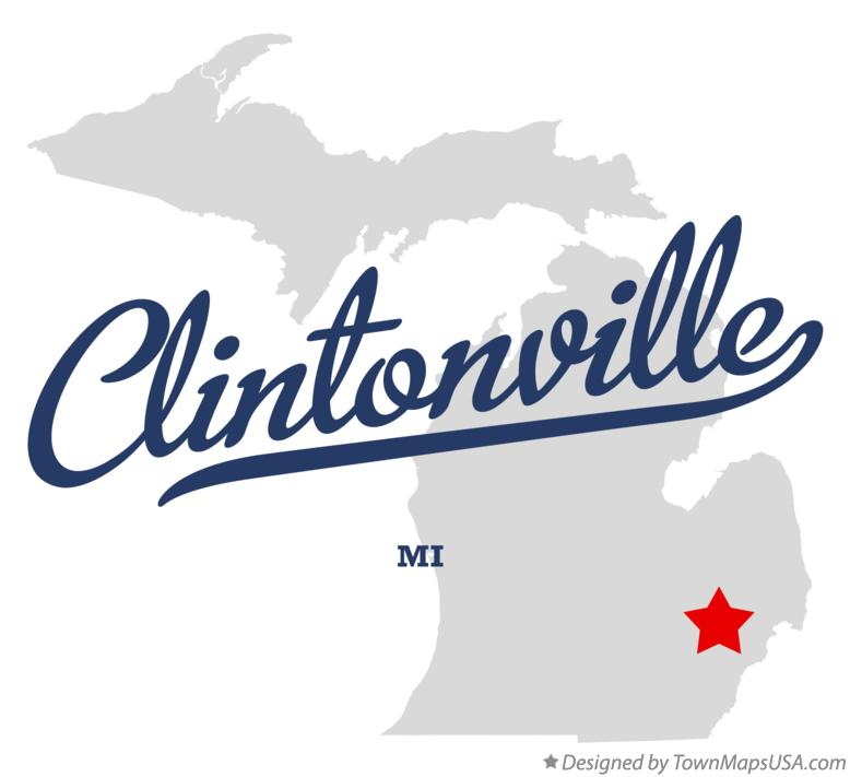 Map of Clintonville Michigan MI