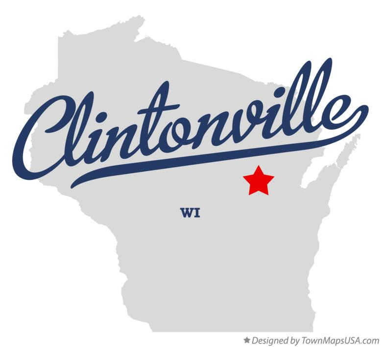 Map of Clintonville Wisconsin WI