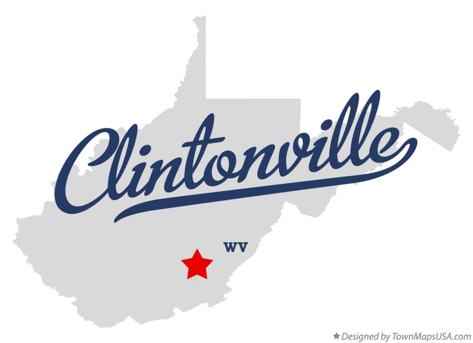 Map of Clintonville West Virginia WV