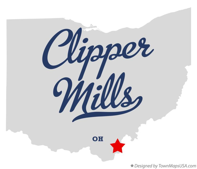 Map of Clipper Mills Ohio OH