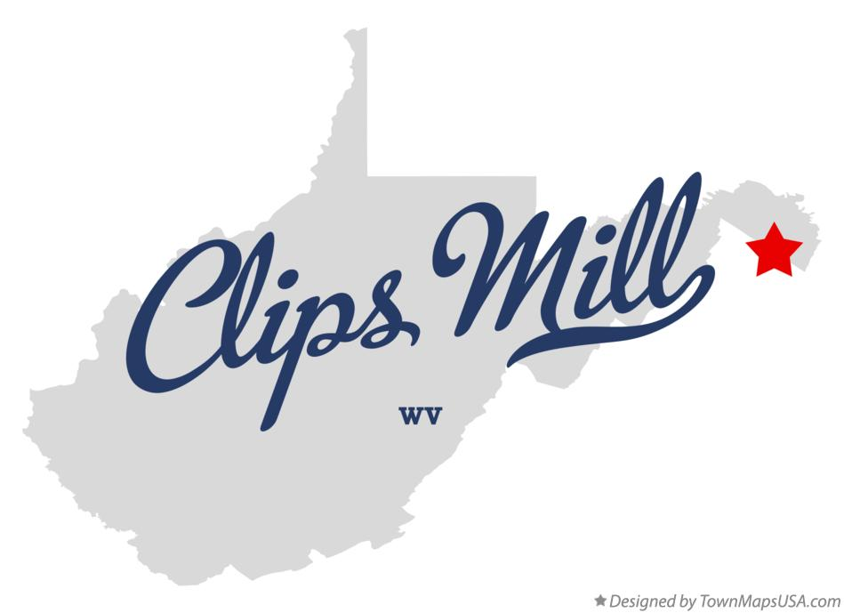 Map of Clips Mill West Virginia WV