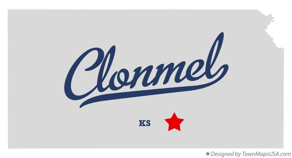 Map of Clonmel Kansas KS