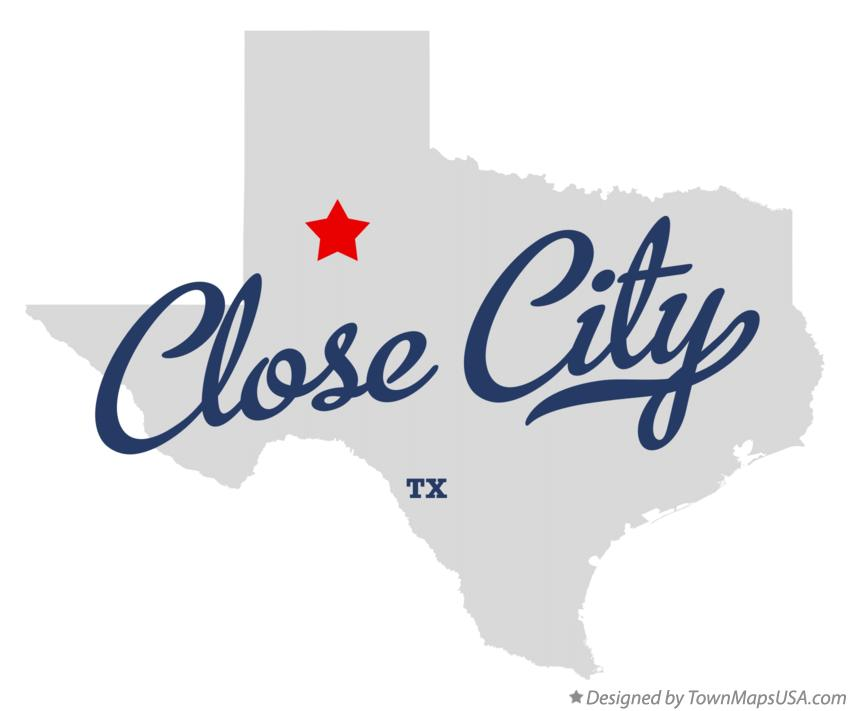 Map of Close City Texas TX