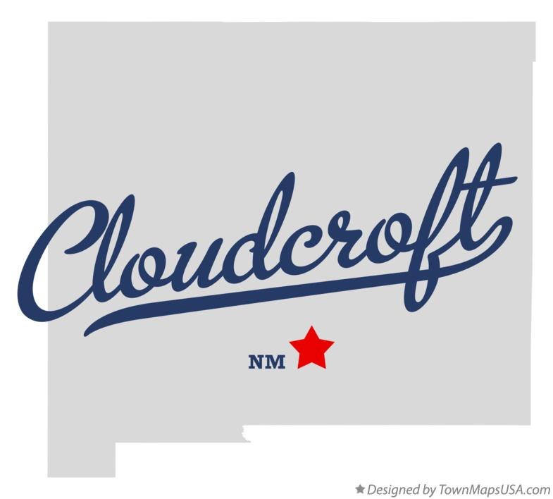 Map of Cloudcroft New Mexico NM
