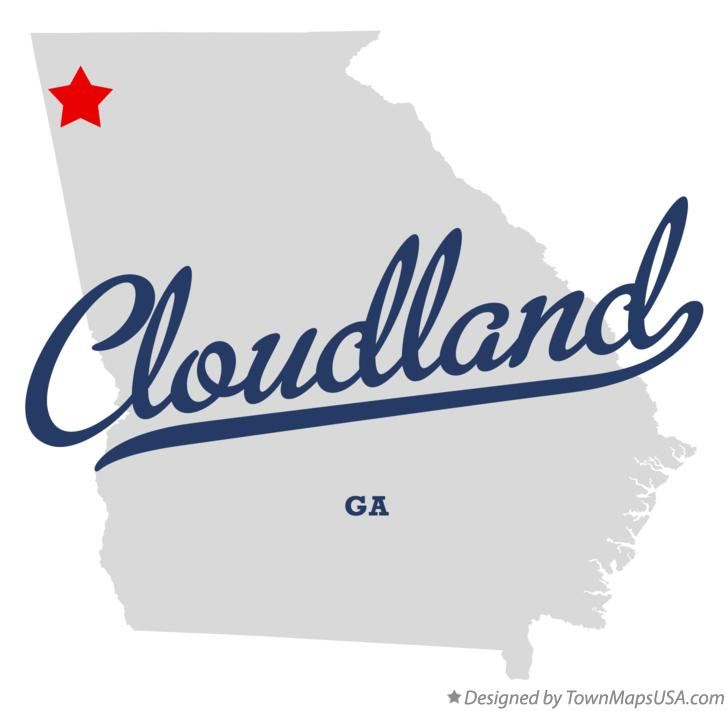 Map of Cloudland Georgia GA