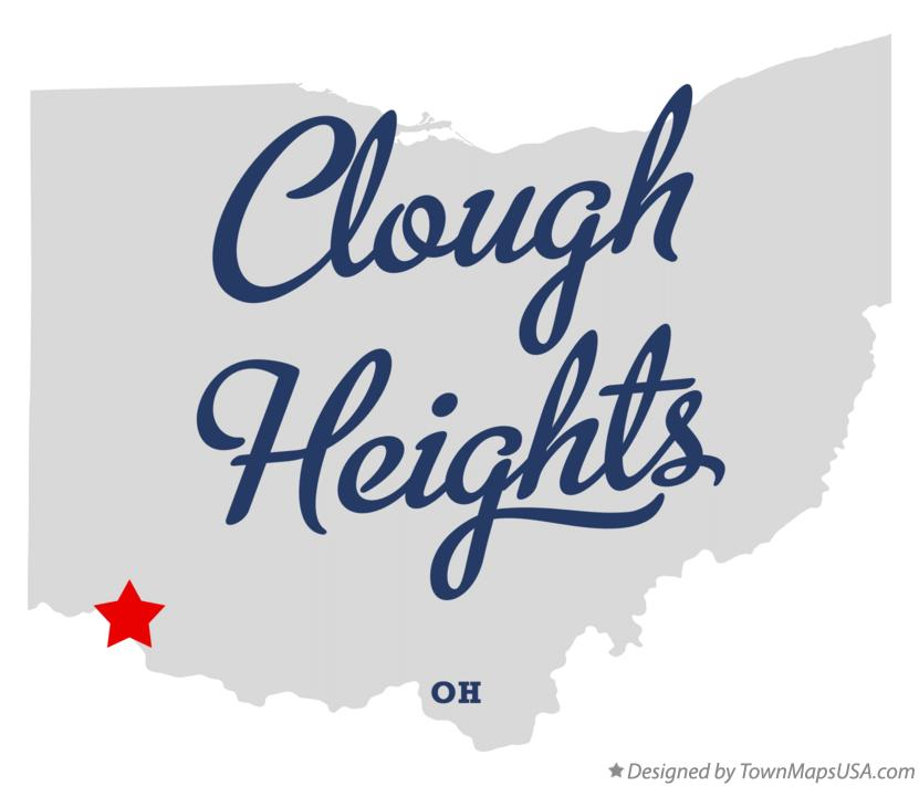 Map of Clough Heights Ohio OH