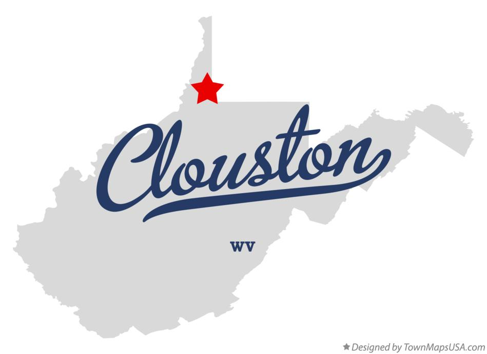 Map of Clouston West Virginia WV