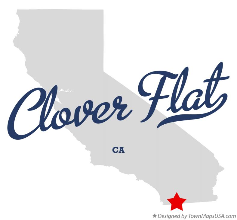 Map of Clover Flat California CA