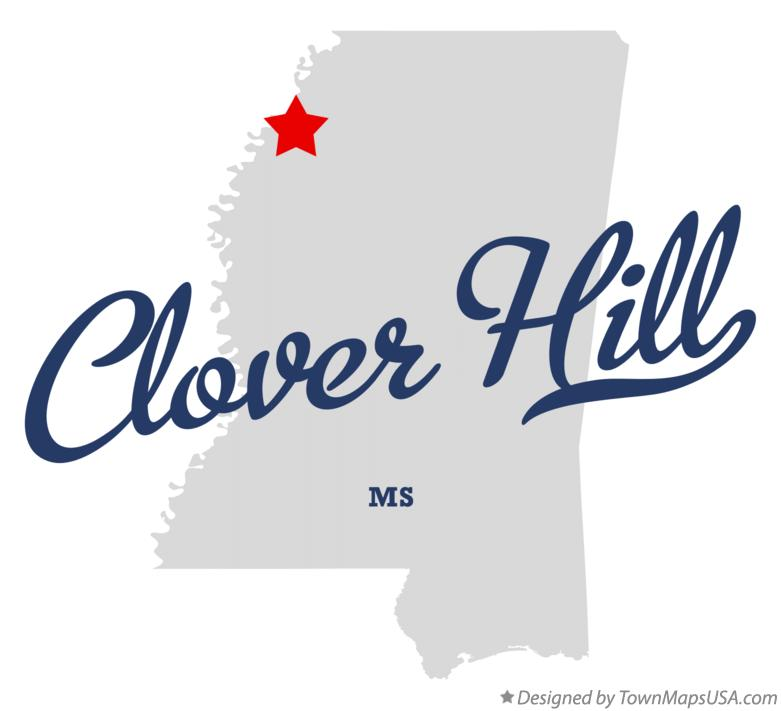 Map of Clover Hill Mississippi MS