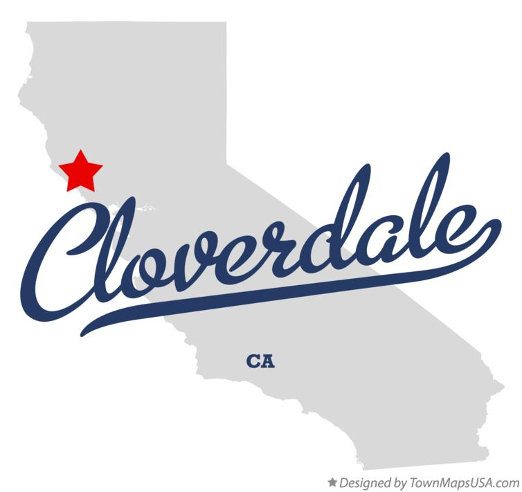 Map of Cloverdale California CA