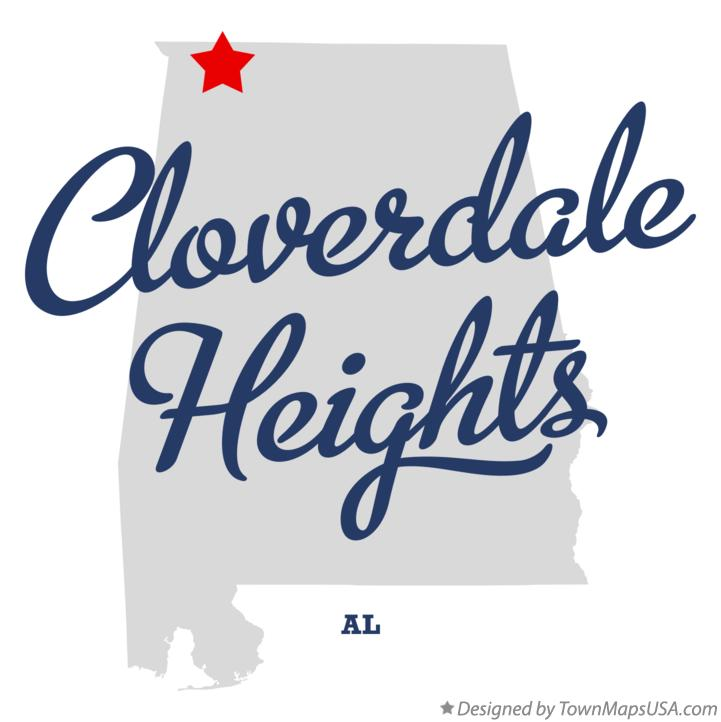 Map of Cloverdale Heights Alabama AL