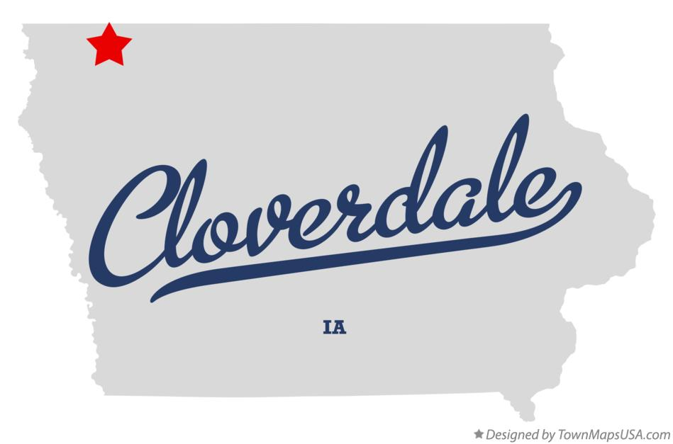 Map of Cloverdale Iowa IA