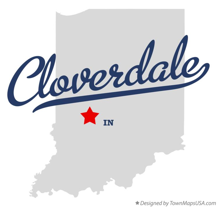 Map of Cloverdale Indiana IN