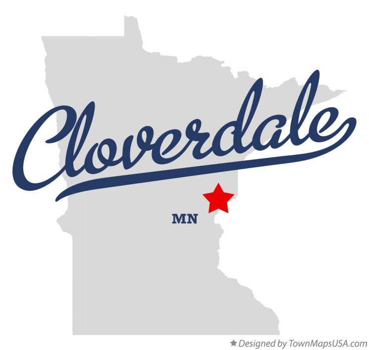 Map of Cloverdale Minnesota MN