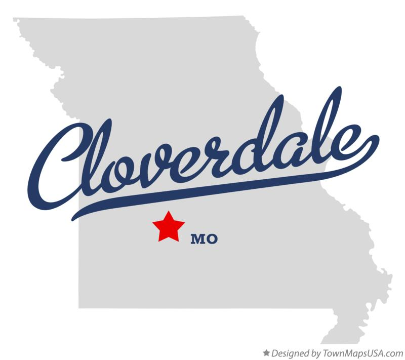 Map of Cloverdale Missouri MO