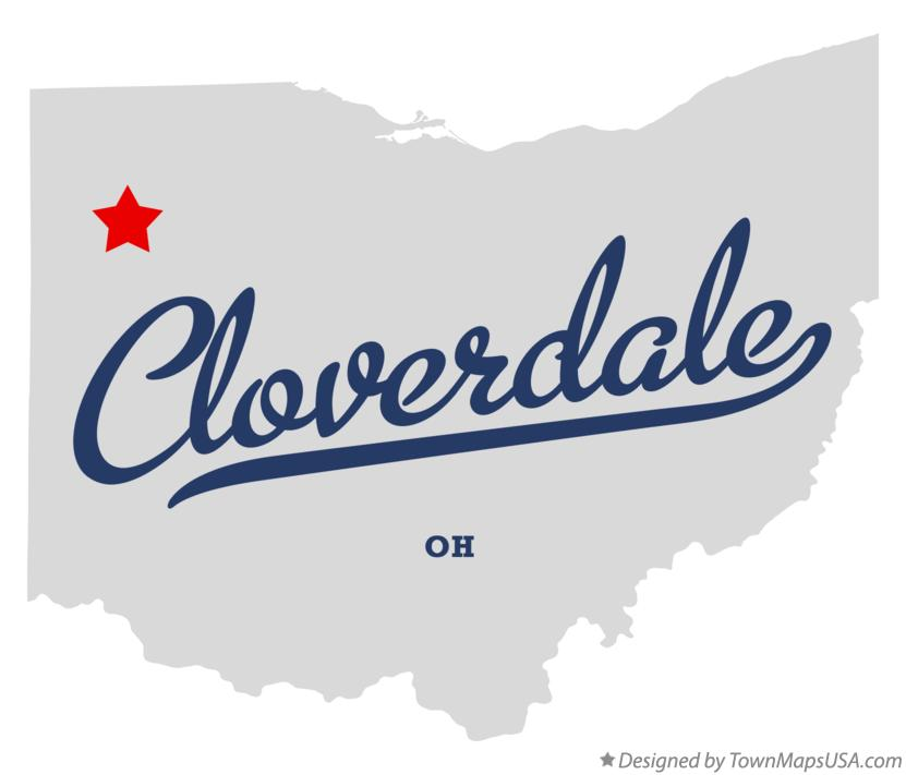 Map of Cloverdale Ohio OH