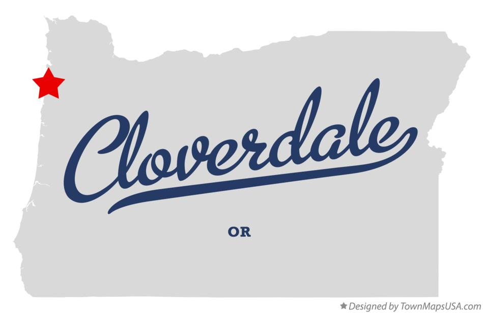 Map of Cloverdale Oregon OR