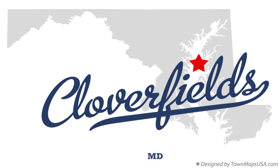 Map of Cloverfields Maryland MD