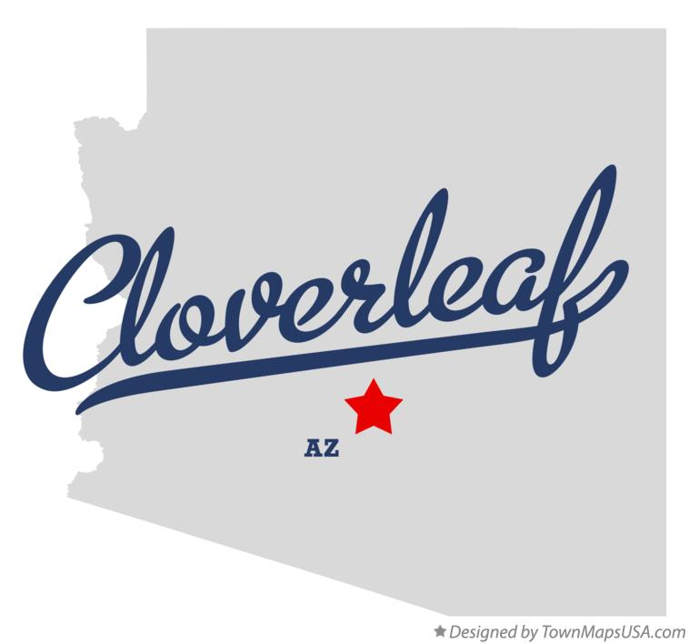 Map of Cloverleaf Arizona AZ