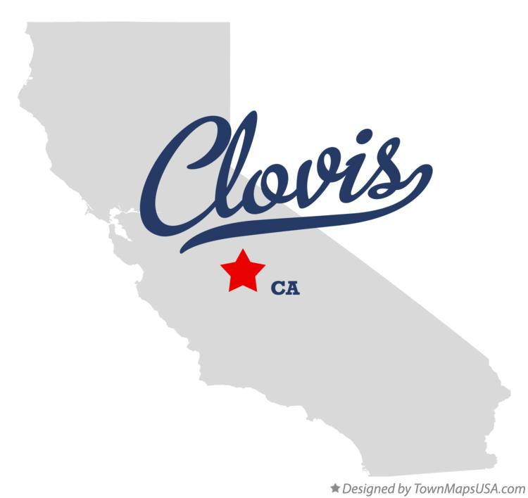 Map of Clovis California CA