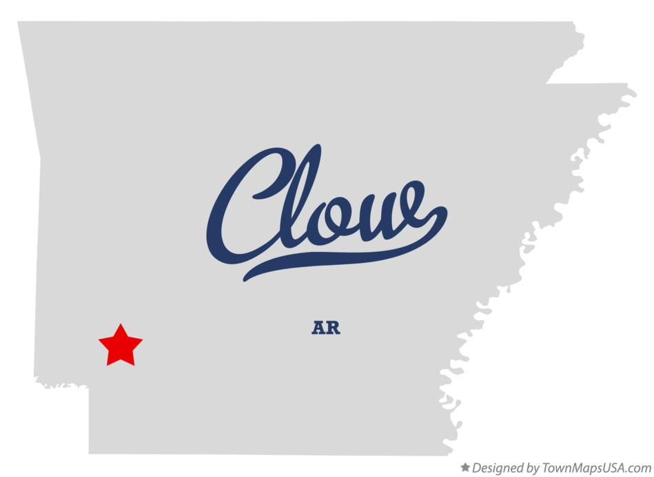 Map of Clow Arkansas AR