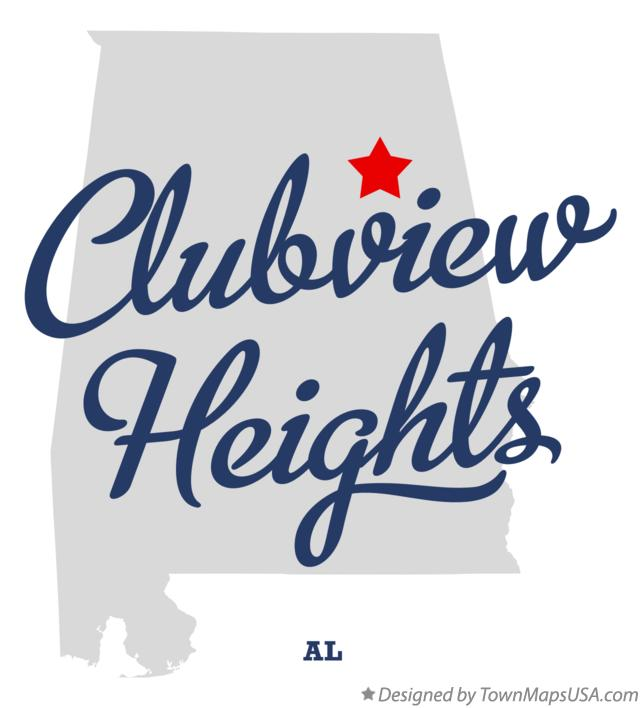 Map of Clubview Heights Alabama AL