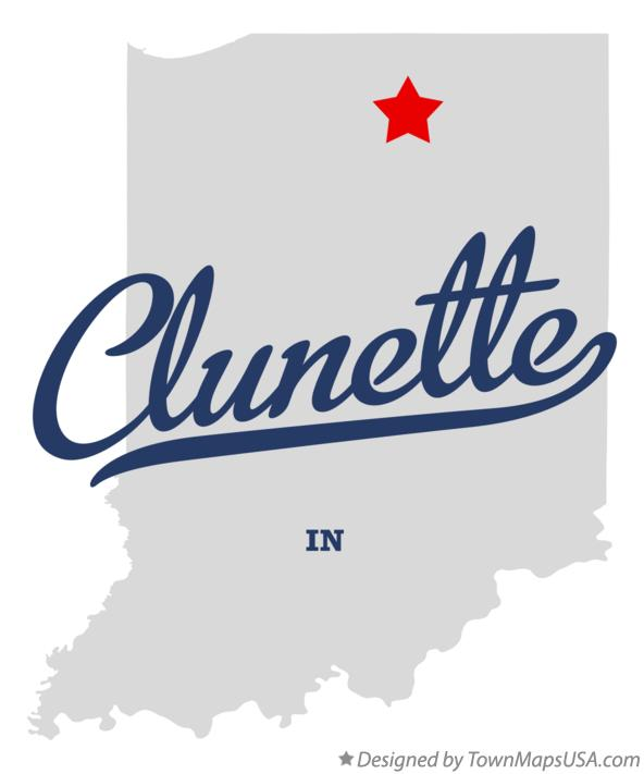 Map of Clunette Indiana IN