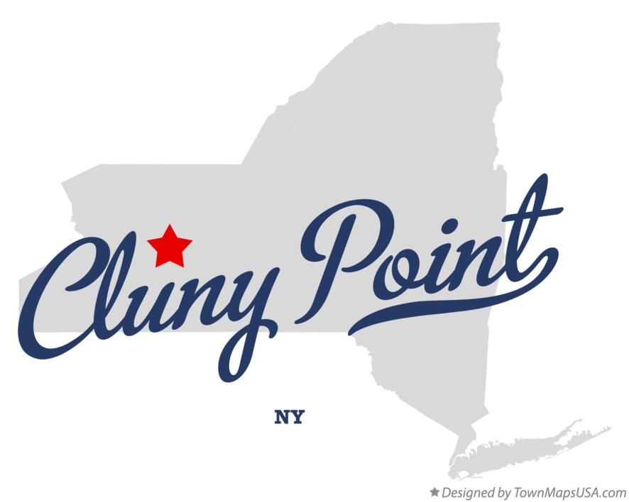 Map of Cluny Point New York NY