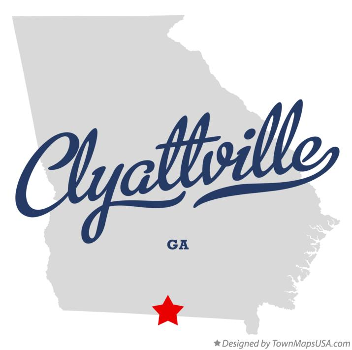 Map of Clyattville Georgia GA