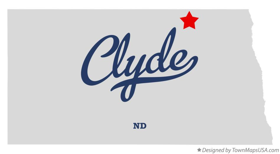 Map of Clyde North Dakota ND