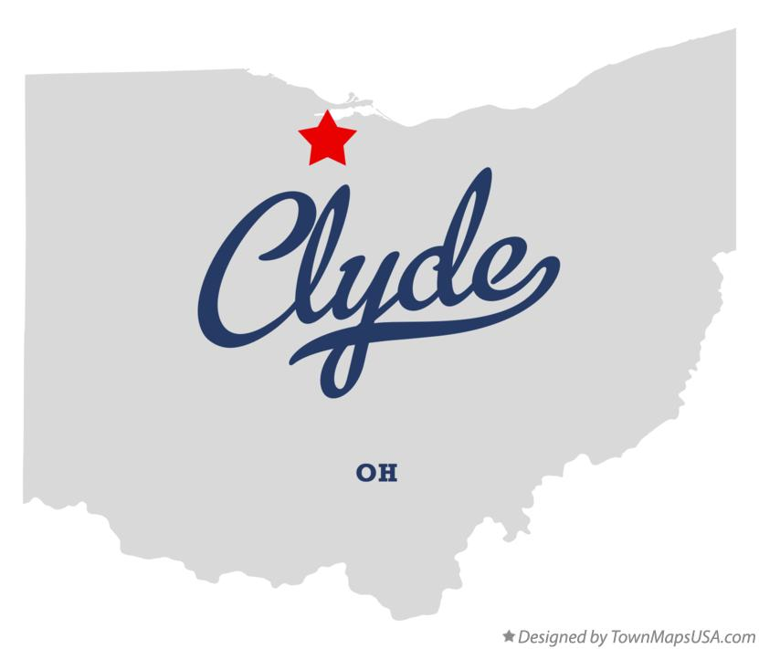 Map of Clyde Ohio OH