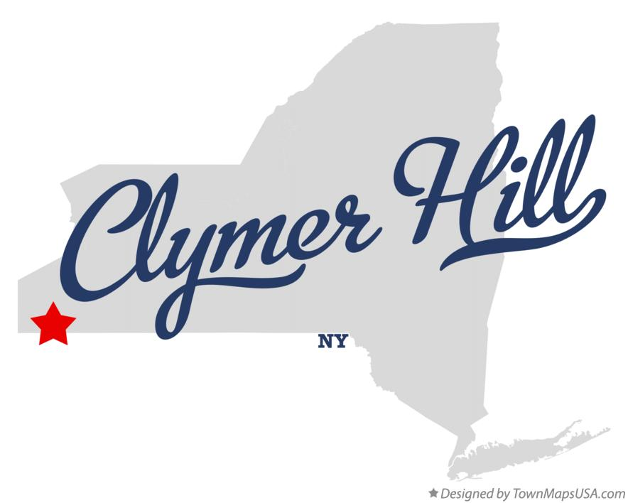 Map of Clymer Hill New York NY
