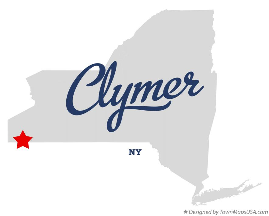 Map of Clymer New York NY
