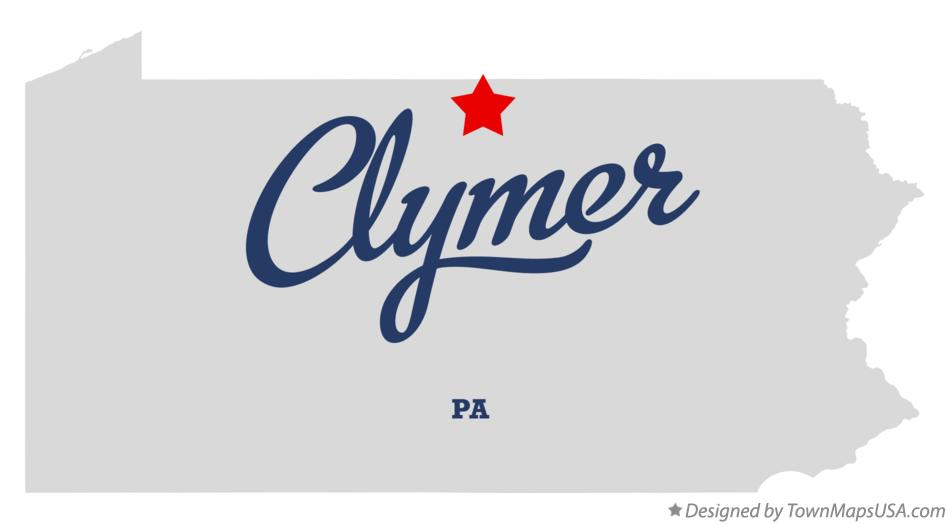 Map of Clymer Pennsylvania PA