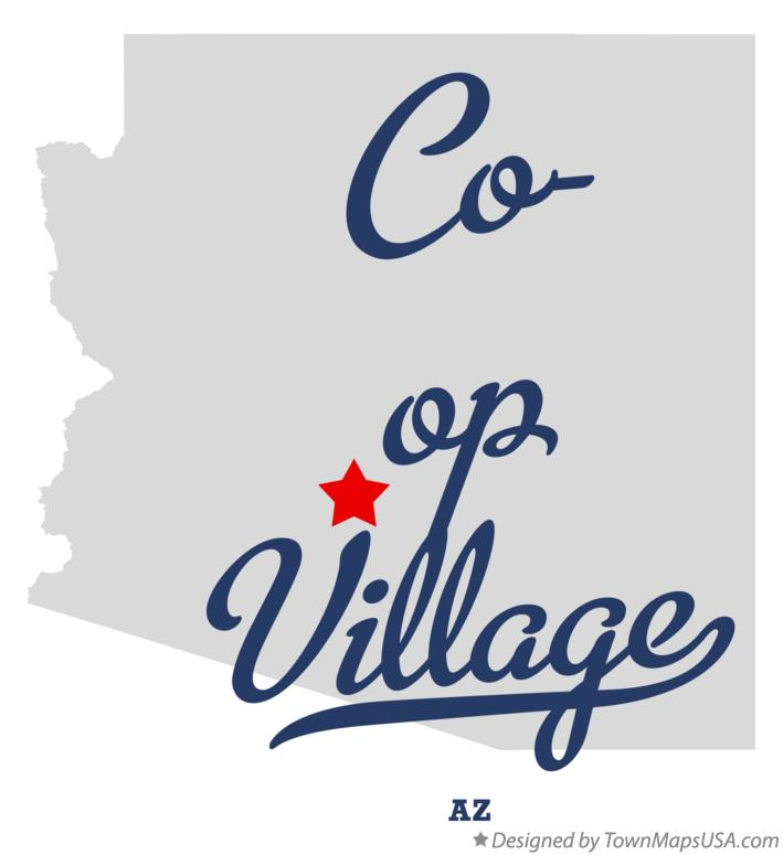 Map of Co-op Village Arizona AZ