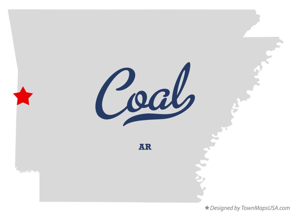 Map of Coal Arkansas AR