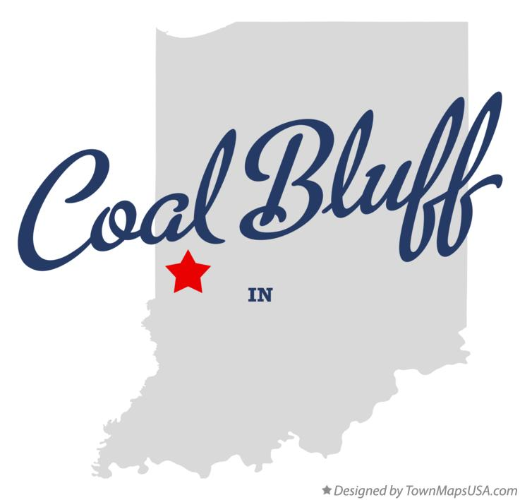 Map of Coal Bluff Indiana IN
