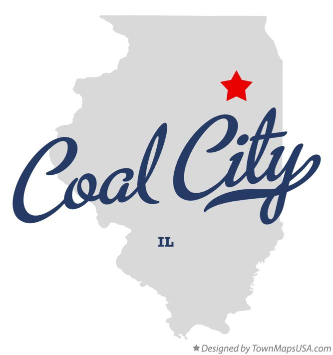 Map of Coal City Illinois IL